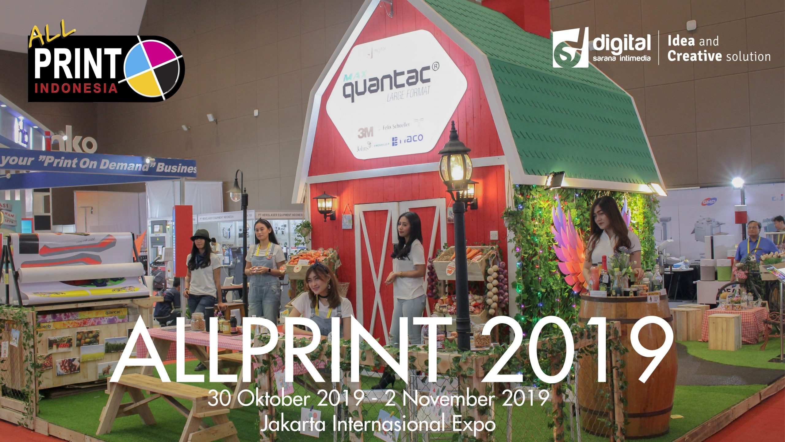Booth QUANTAC di event All Print 2019