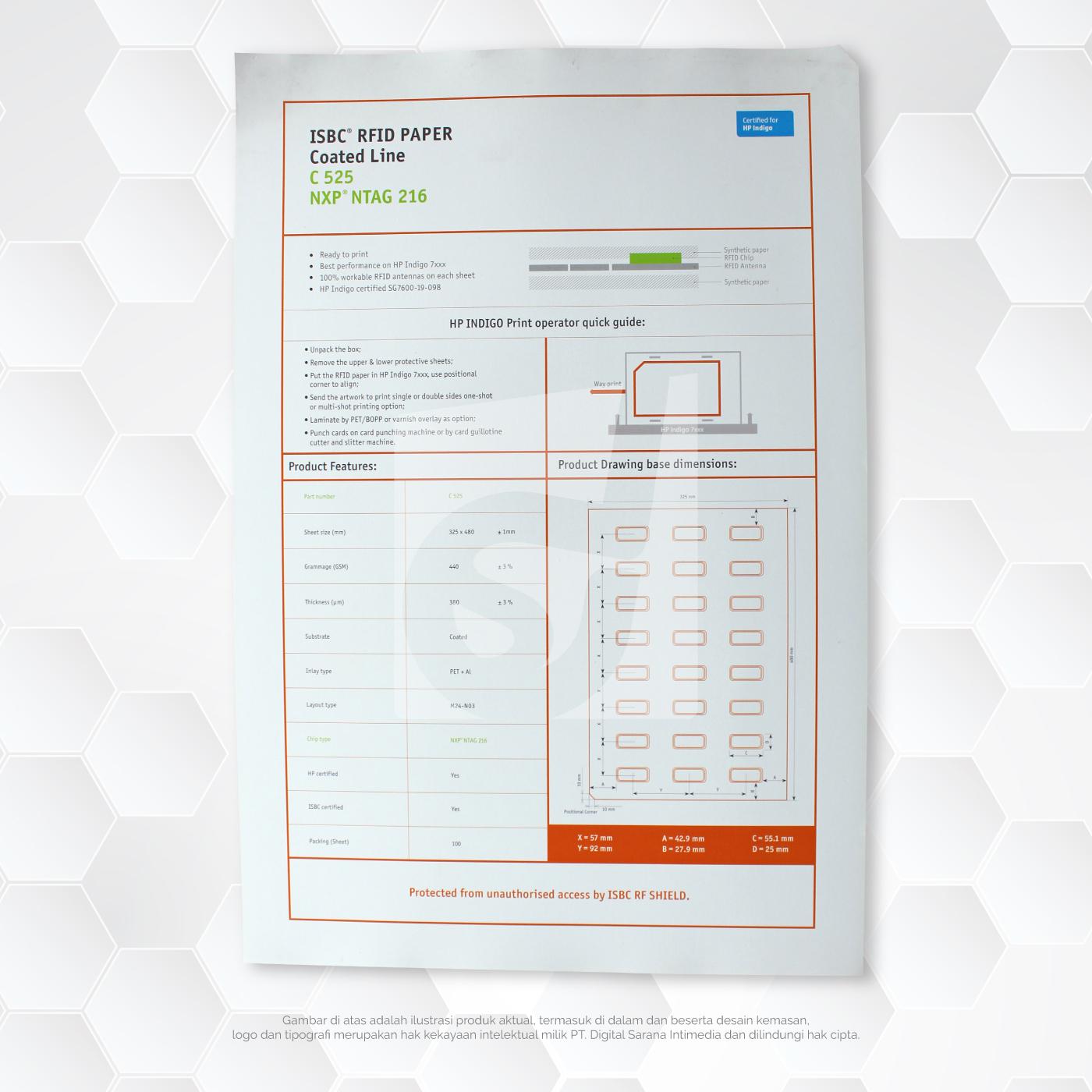 ISBC RFID Paper 3*8